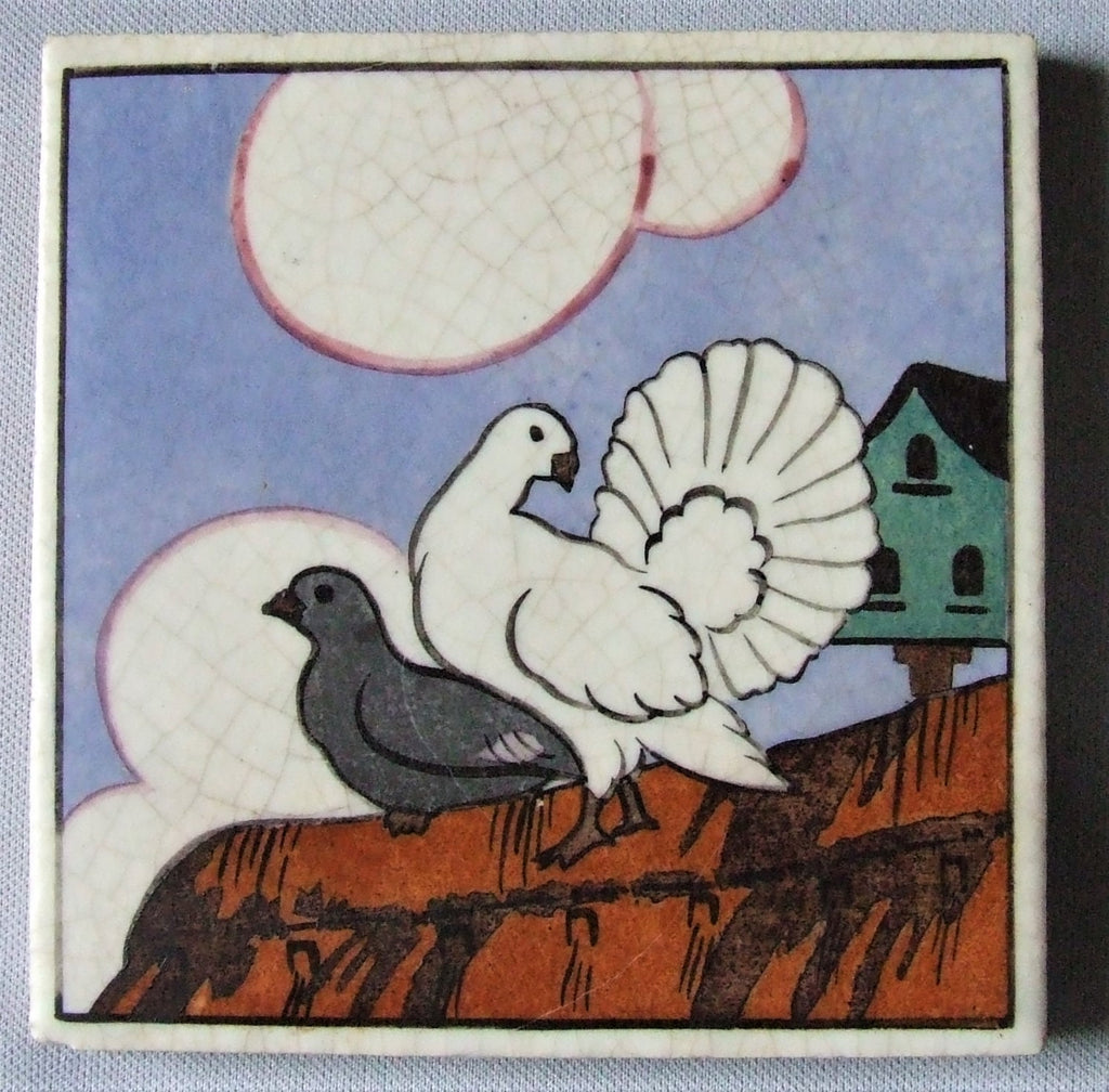 Carter Poole Farmyard Series Tile Doves