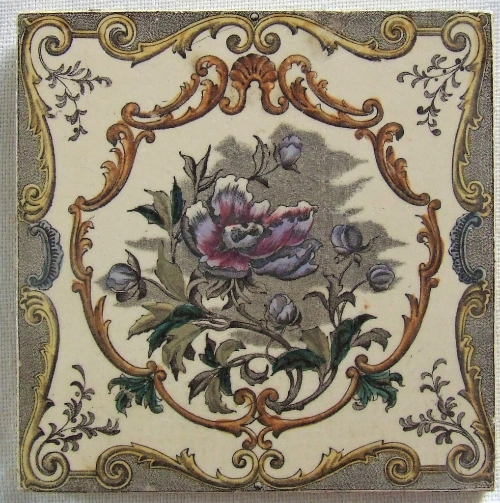 Antique English Transfer Tile
