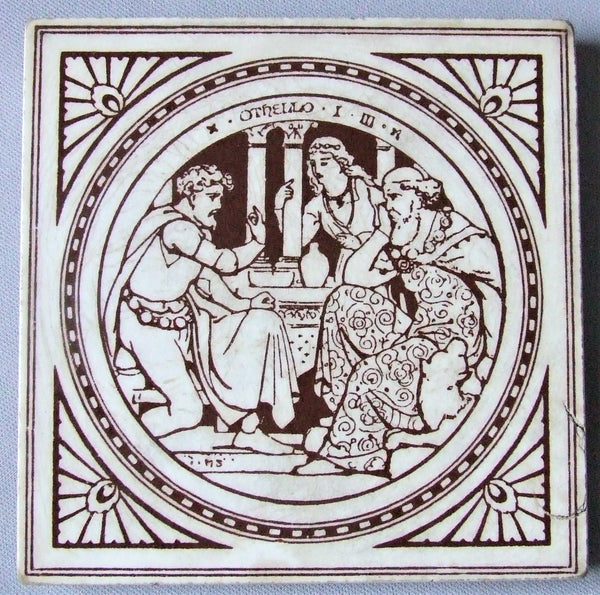 Minton Moyr Smith Tile Shakespeare Othello