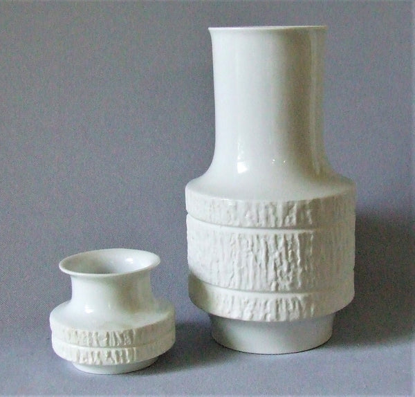 Thomas Arcta West German Mid Century White Porcelain Vase