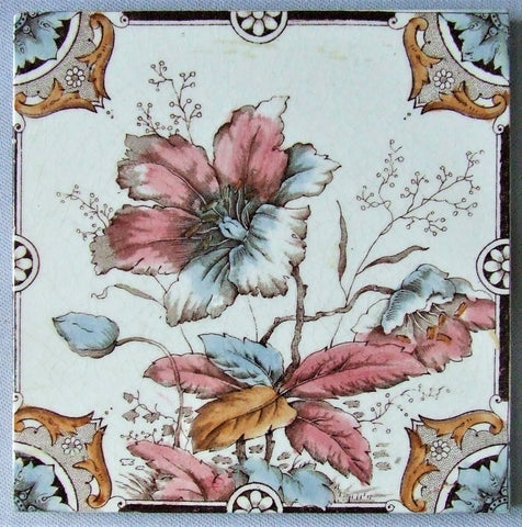 Lea & Boulton antique english tile transferware