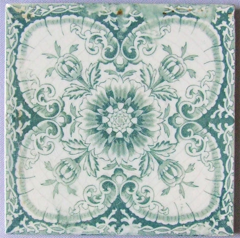 Antique Tile English Transferware