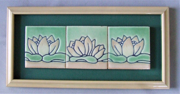 California Art Tile waterlily calart