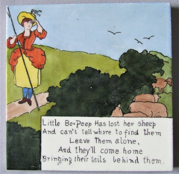 American Encaustic AETCO Nursery Rhyme Tile Little Bo Peep