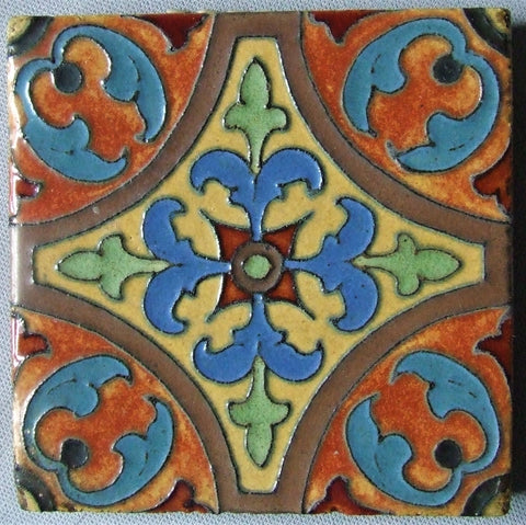 Flint Faience Tile Art Deco Moorish Design
