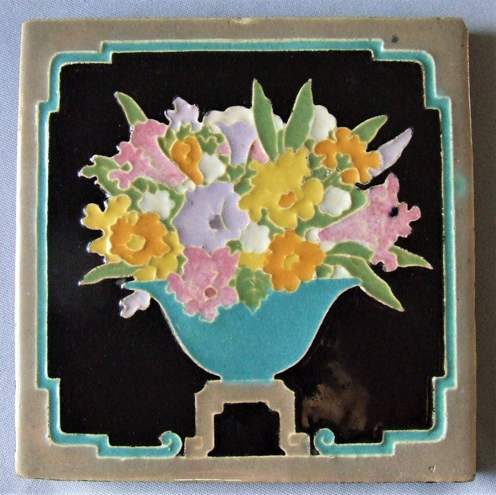 Claycraft Tile California Art Deco Pottery Flower Bowl