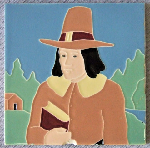 AETCO Thanksgiving Pilgrim Tile