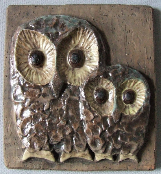 Mid Century Tile Owls Bungalow Bill