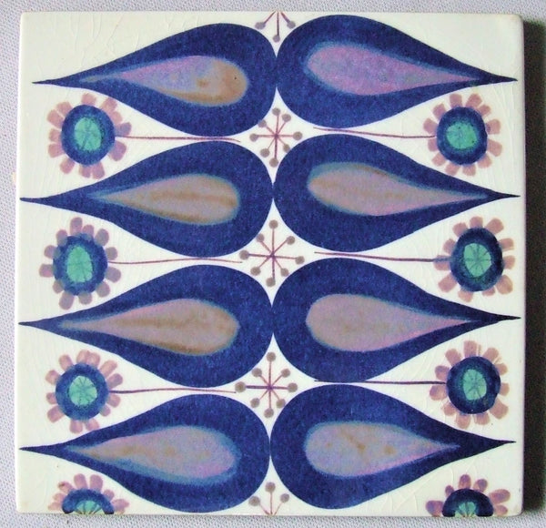 Royal Copenhagen Aluminia Faience Pottery Tile by Marianne Johnson