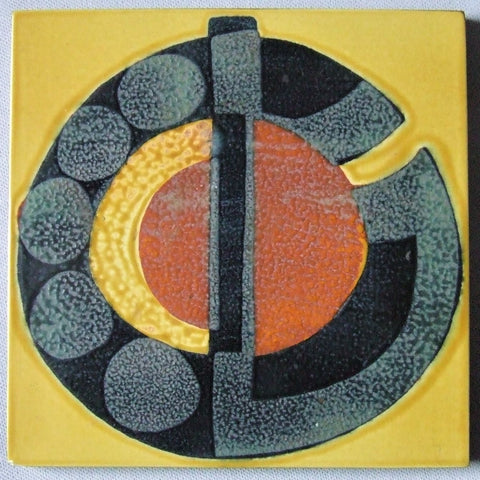 Royal Copenhagen Aluminia Faience Pottery Tile by Johanne Gerber