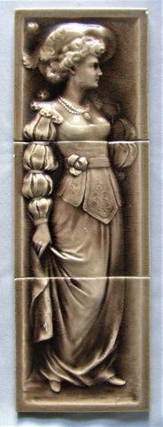 AETCO Tile Panel Victorian Lady American Encaustic