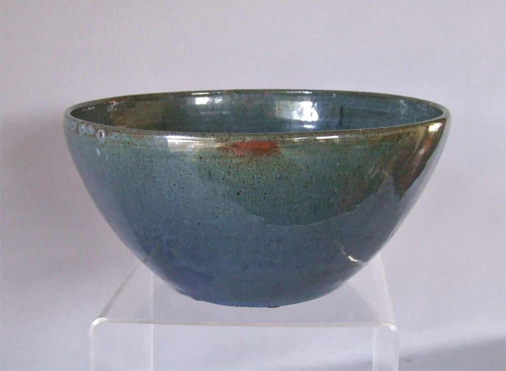 AR Cole North Carolina Pottery Blue Bowl