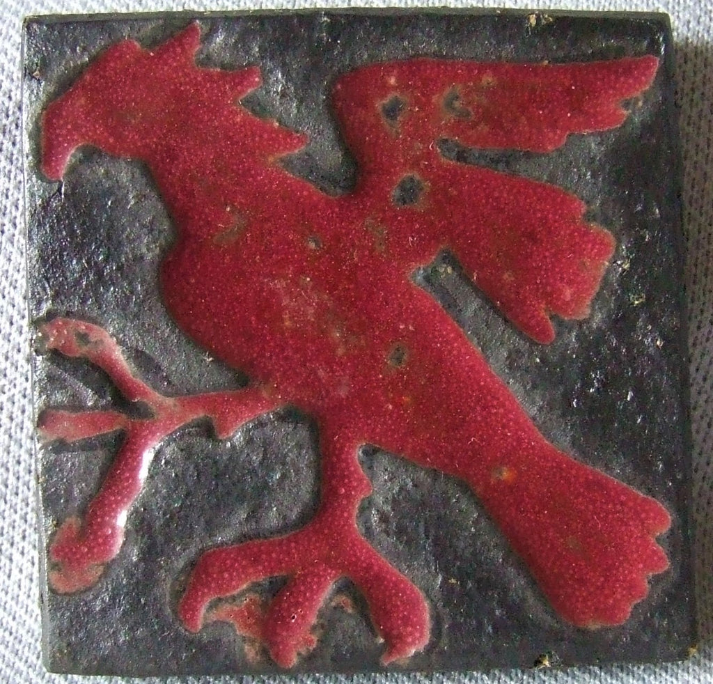 AETCO Tile of a Hawk American Encaustic