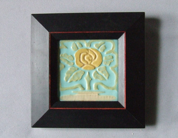 Rookwood Pottery Faience Tile Rose Topiary