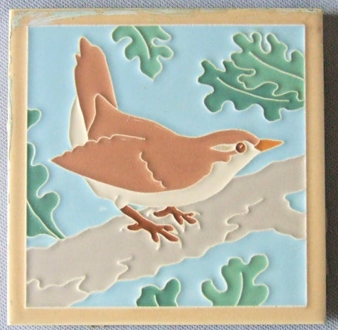 American Olean Tile Wren Bird Series Bungalow Bill