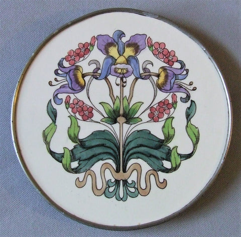 Art Nouveau Fantasy Flower Tile Trivet