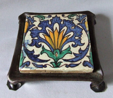 Cape Cod Shop Les Fils de Chemla Tile Trivet Arts and Crafts
