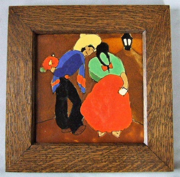 San Jose Pottery Tile Mexican Lovers