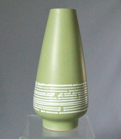 Dümler Breiden Green Mid Century Vase West German Pottery