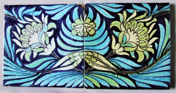 William De Morgan Tile English Arts Crafts Bungalow Bill Antique