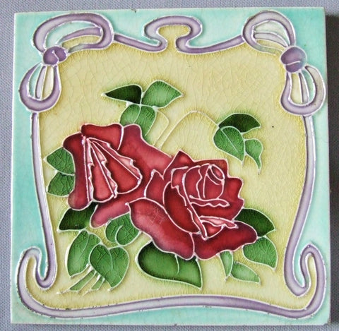 T & R Boote At Nouveau Tile Tubelined Roses