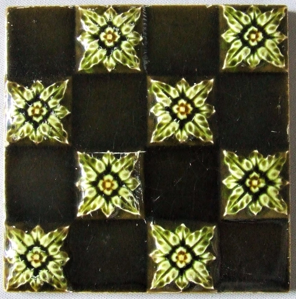 English Victorian Tile Bungalow Bill Antique