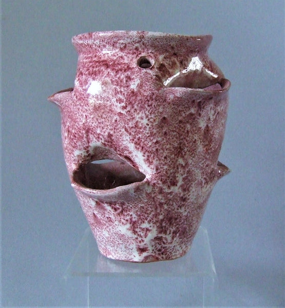 AR Cole Strawberry / Crocus Pot North Carolina Pottery Bungalow Bill