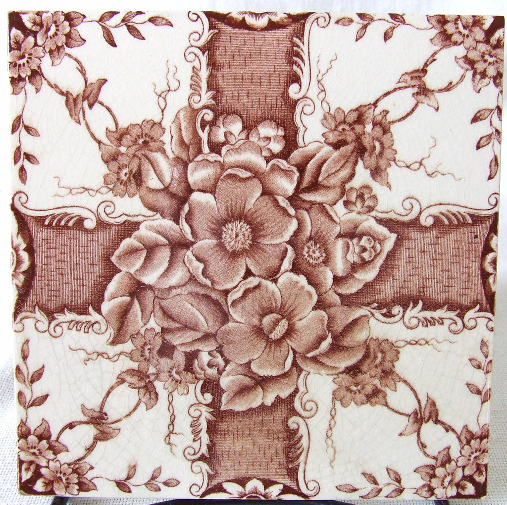 English Floral Transfer Tile