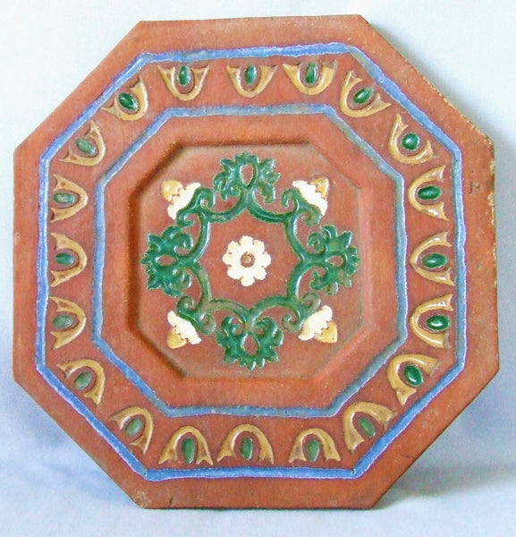 HUGE Malibu Spanish Pottery Tile California Arts & Crafts Spanish Mission Revival
