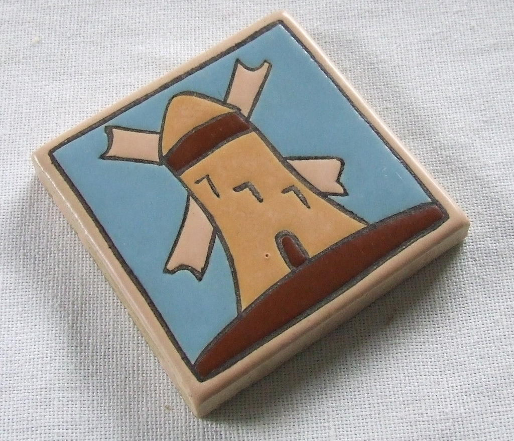 Vintage Mosaic Tile Co Windmill Arts and Crafts Ohio Art Pottery