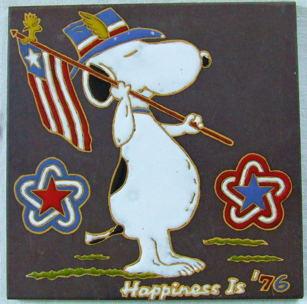 Snoopy Peanuts Bicentennial Tile