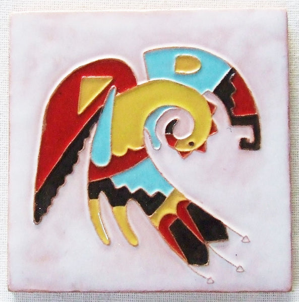 Desert House Lotz McKusick Gila Pottery Bird Tile Arizona