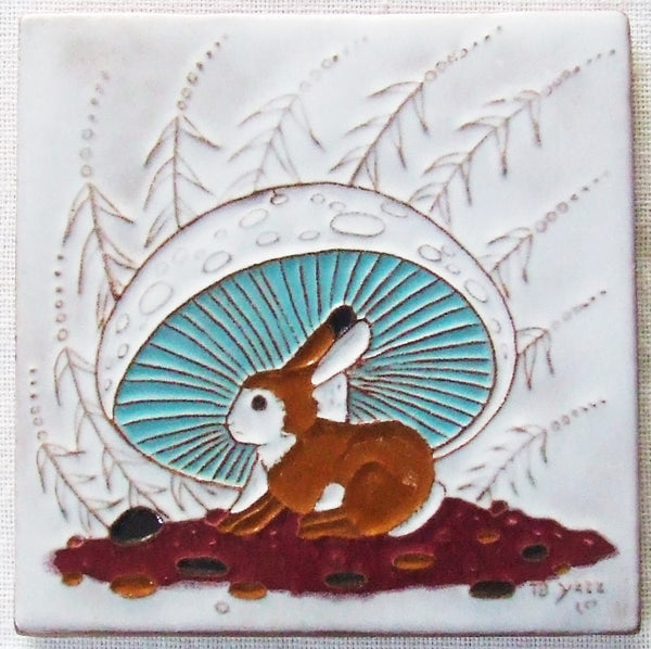 McKusick Gila Pottery Tile Rabbit by Beatin Yazz
