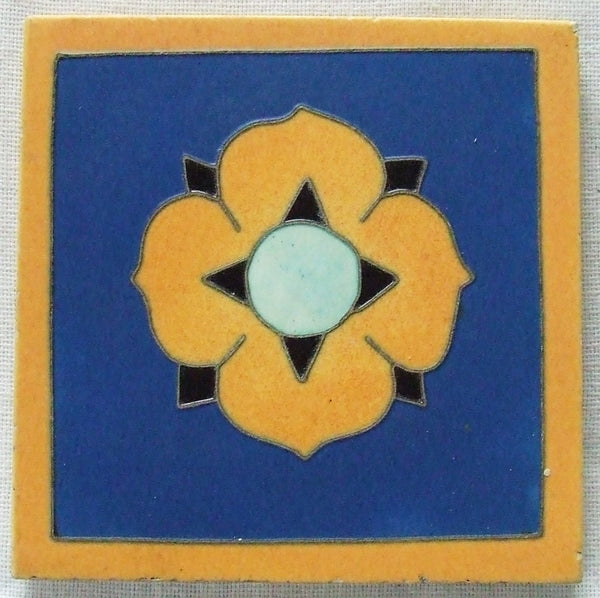 Architectural Tile NJ Arts & Crafts Matawan Harikan Tubelined Arts Crafts Trivet