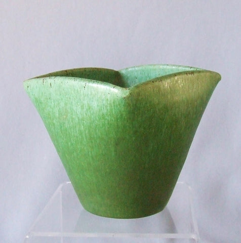 Royal Crown North Carolina Pottery Green Vase