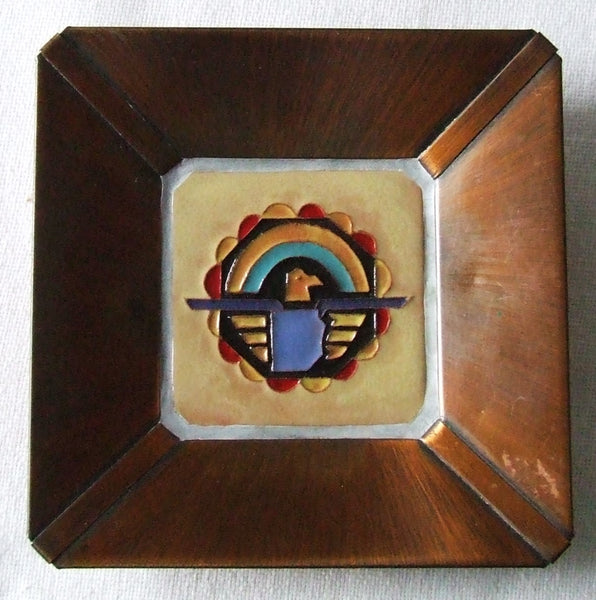 McKusick Gila Pottery Thunderbird Tile in Copper