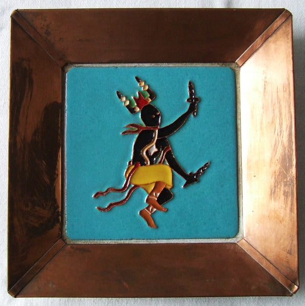 McKusick Gila Pottery Corn Dancer Tile in Copper