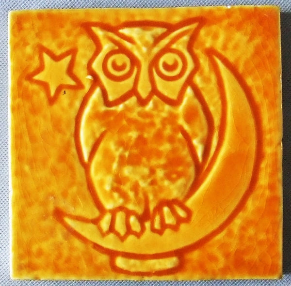 Mosaic Tile Company Owl on the Moon