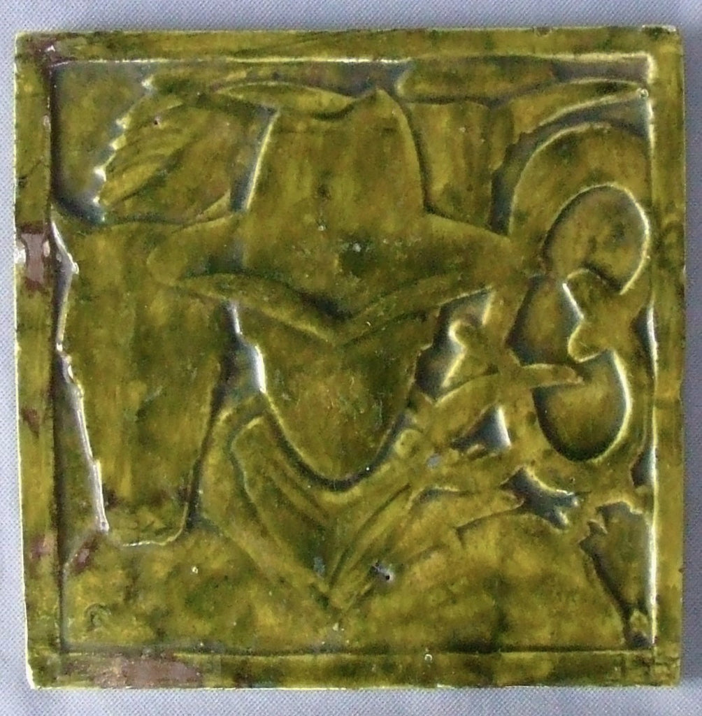 Cowboy Tile antique