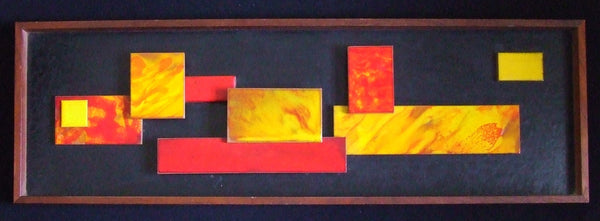 Harris Strong Tile Panel Abstract on Leather