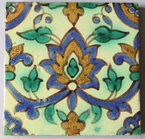 Tunisian California Arts and Crafts Tile Kallal el Kadine Nabeul
