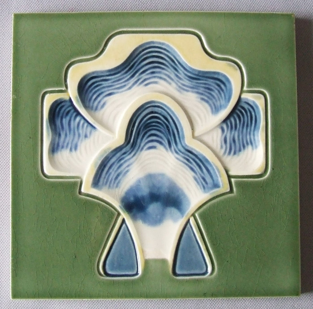German Secessionist Tile by Tonwerk Offstein