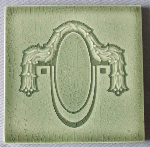 European Secessionist Tile by Helman