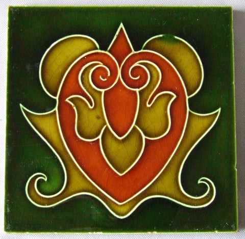 English Art Nouveau Tile by Richards