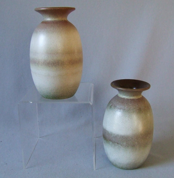 pair scheurich west german pottery vases