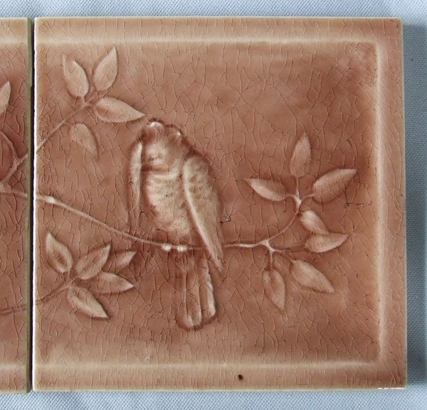 bird tile american encaustic detail