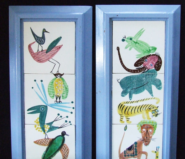 Harris Strong Tiles Nursery Animals detail