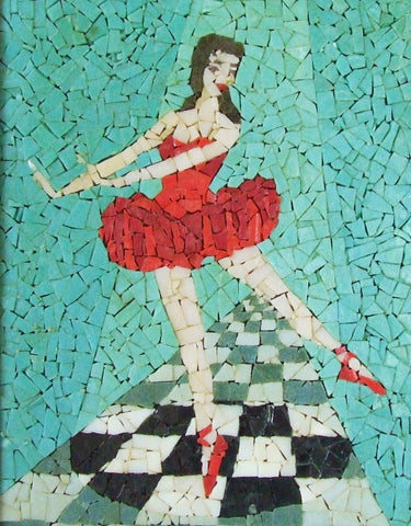 glass mosaic tile ballerina