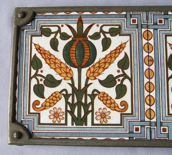 Webbs English Aesthetic Movement Transfer Tile Trivet