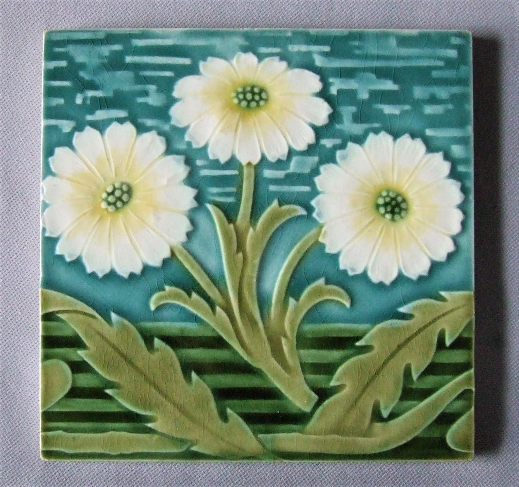 Villery Boch German Art Nouveau Tile